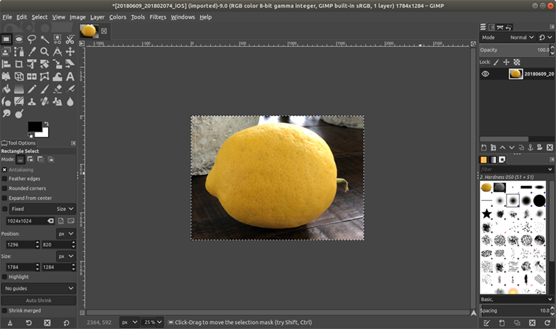 آموزش برش در GIMP
