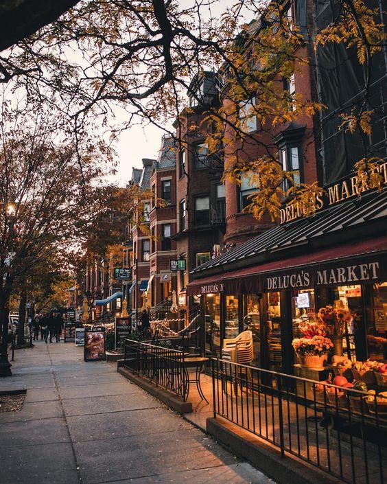 عکس خیابان ها در پاییز