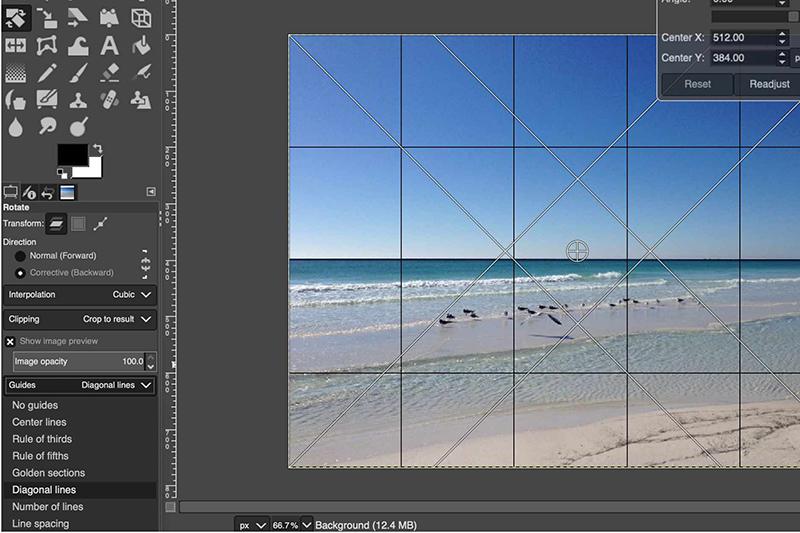 آموزش چرخاندن تصویر در GIMP